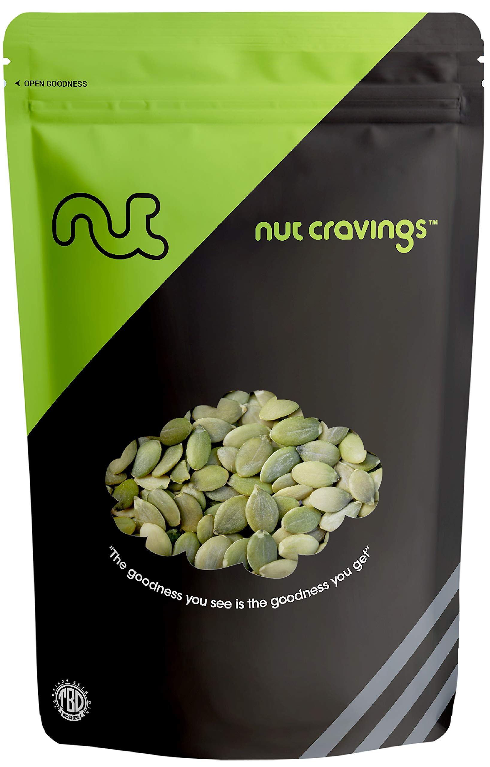 Nut Cravings - Raw Organic Pumpkin Seeds (4 Ounce) - Raw Pepitas With No Shell - SAMPLER PACK by Nut Cravings