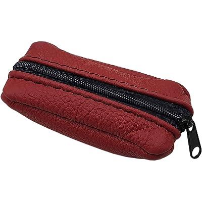 Cuero Estuches de Llave 1 Compartimento Made en UE en Negro o Rojo (Rojo)