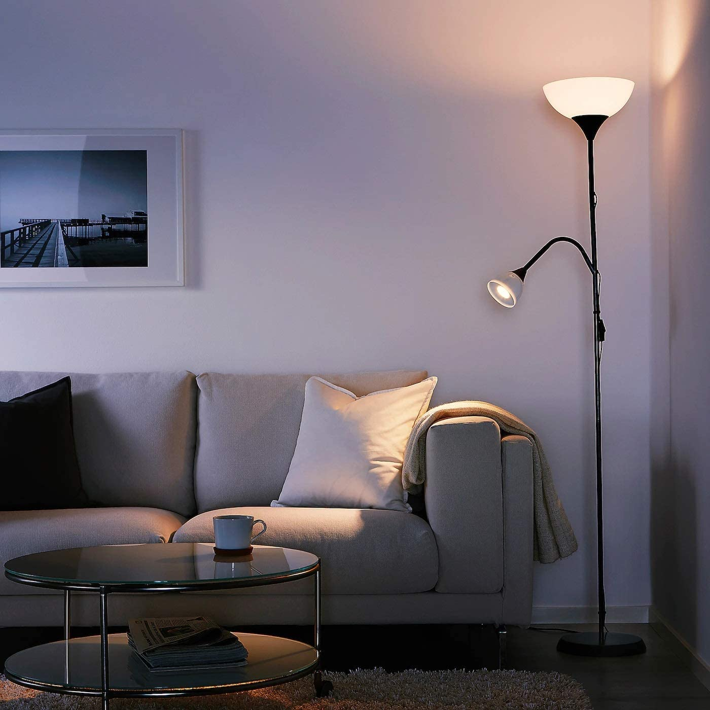 Ikea Not Deckenfluter Leseleuchte In Schwarz Kunststoff 230 W