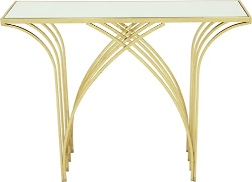 Deco 79 Metal Mir Console Table, 41 x 31