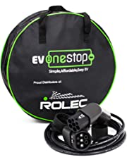 EV OneStop Simple, Affordable, Easy EV EVPP0100 - Cable de Carga Para Vehiculo Electrico / Ev Tipo 2 a Tipo 2  32 A (7.2Kw) 5m Estuche de Transporte Gratis - BMW, Merc, Leaf 2018, Tesla