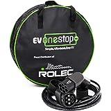 Cable de carga para vehículo eléctrico / EV | Tipo 2 a Tipo 2 | 32 amperios (7.2kW) | 5 metros | Estuche de transporte gratis | BMW, Merc, Hoja 2018, Tesla |