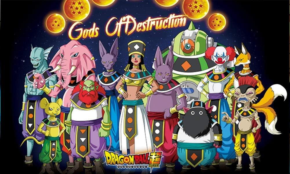 Stickers Muraux Dessin Anim/é Dragon Ball Z Animation Stickers Muraux /Étanches Chambre Anime Stickers Muraux 100X60Cm Art D/écoration A