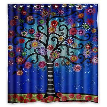 Woyua Fantastic Bath Mexican Style Flower Tree Shower Curtains For Bathroom  Polyester Fabric Bath Curtain 66u0026quot