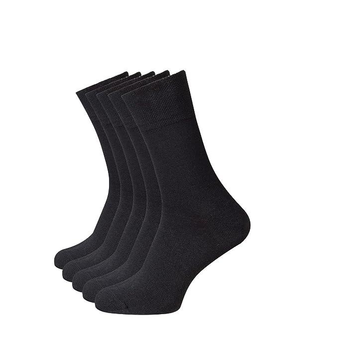 Beauty7 Kits 5 Pares Calcetines de Lana Largos Sin Costuras Super Suave Cómodo para Hombre,