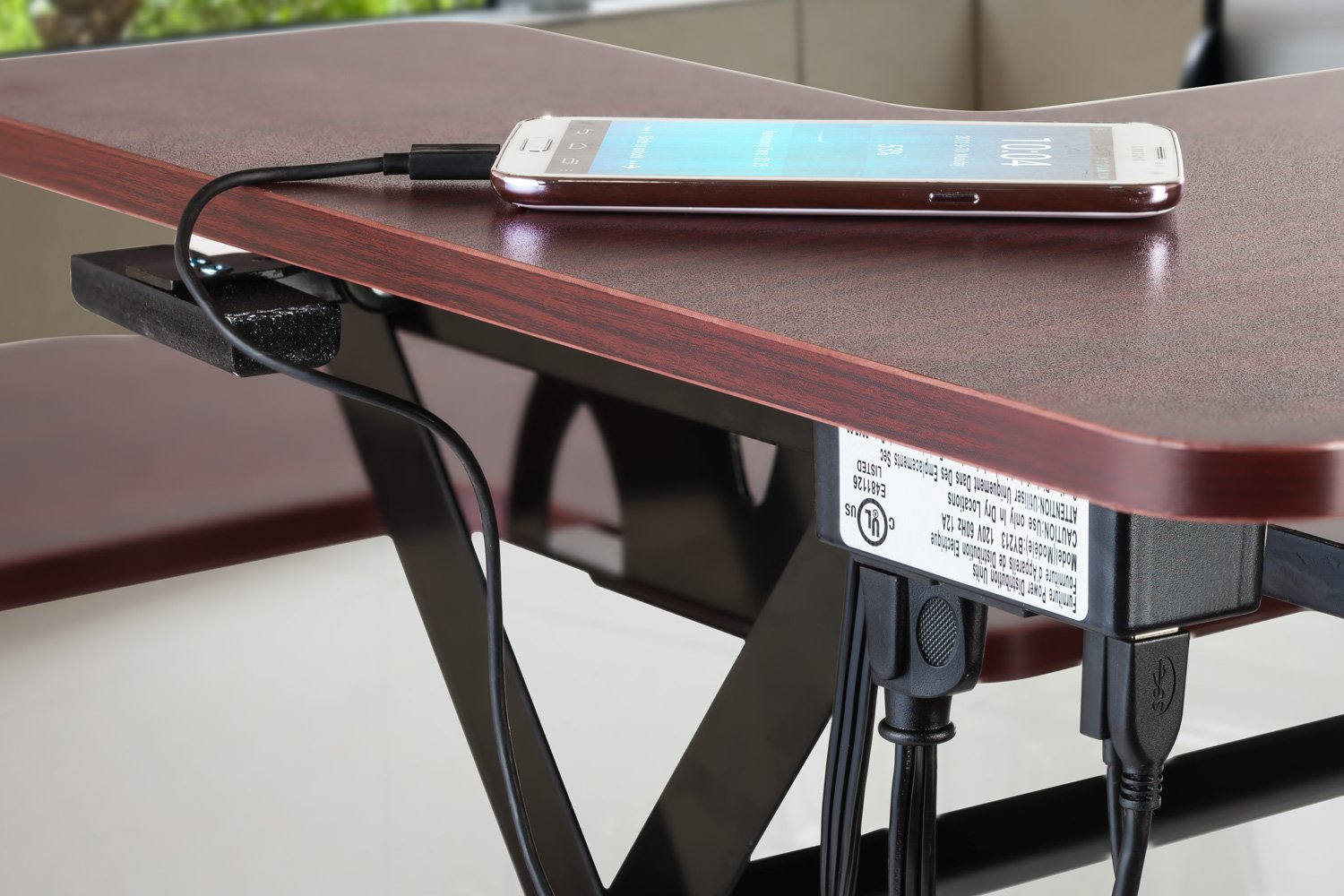 Halter ED-259 Preassembled Height Adjustable Desk Sit / Stand Elevating Desktop with 2 Power Outlets and 2 USB Charging Ports by Halter (Image #9)