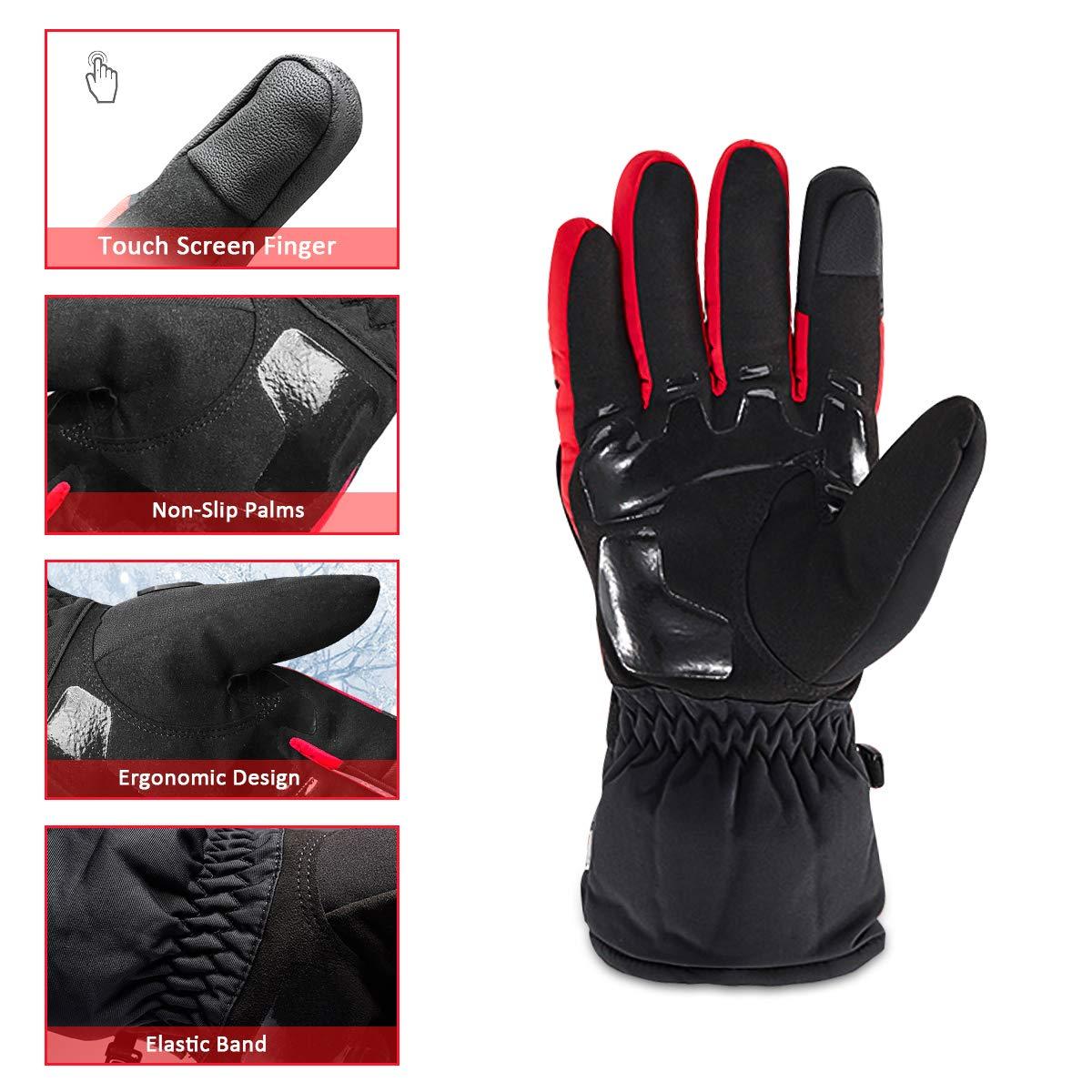 L TRILINK Guantes para Moto de Invierno para Hombre y Mujer Impermeables para Escalada Resistentes al Fr/ío Senderismo y otros Deportes Invernales al Aire Libre T/áctiles