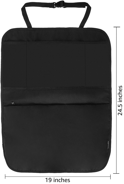 AmazonBasics ZH1609022R1 Car Seat Organizers Kick Mats (Pack of 2)