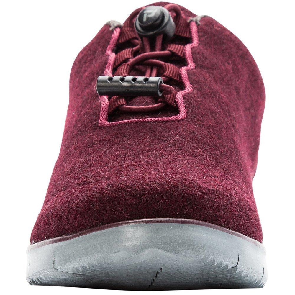 Propet Women's TravelFit Prestige Walking Shoe B078YQSJLZ 9H NARROW Narrow US|Burgundy Flannel