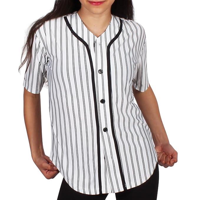 Amazon.com: Gia mia Women s Pin Stripe Hip Hop Danza botón ...