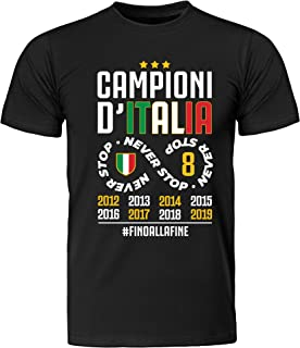 My Digital Print T-Shirt Unisex Maglia Maglietta Fans Juventus, Serie A Campione d'Italia 2019, Ottavo Scudetto, Bianconero Juventino