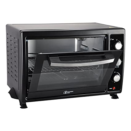 Modern Life Mini Horno Horno eléctrico 35L Grill & Rotisserie Incluye Hornear Pan y Alambre Rack