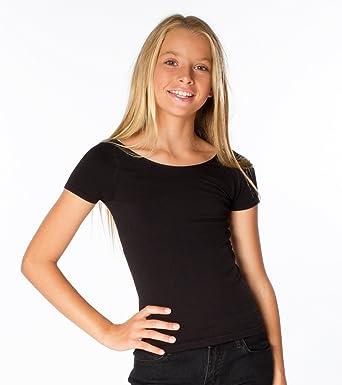 1ff90fbeebaa5d Amazon.com  Malibu Sugar Tween (7-14) Short Sleeve Criss Cross Back Tee   Clothing