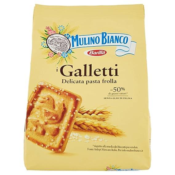 Mulino Bianco , Biscotti Galletti, Frollini , 2 confezioni da 800 g [1600  g] Amazon.it Alimentari e cura della casa