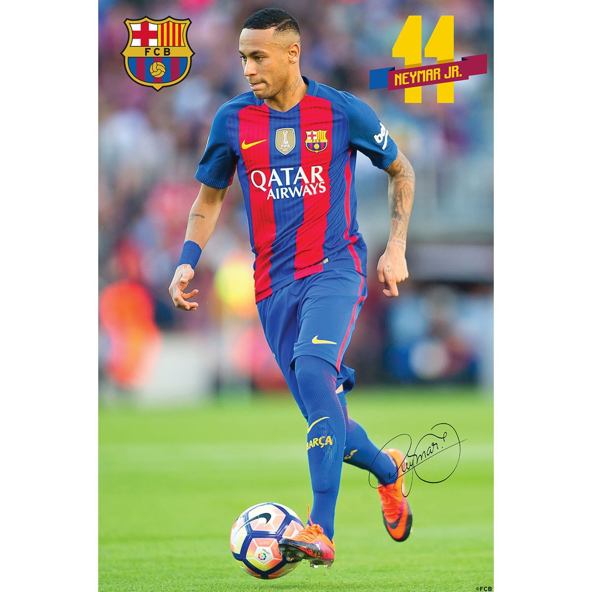 F C Barcelona Mini Poster Neymar Jr 15 Amazon In