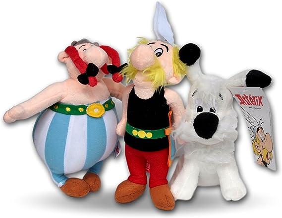 Astérix el Galo Pack 3x Peluches Asterix, Obélix y Perro Ideafix 20cm Peluche Comic Animal Amigos: Amazon.es: Juguetes y juegos