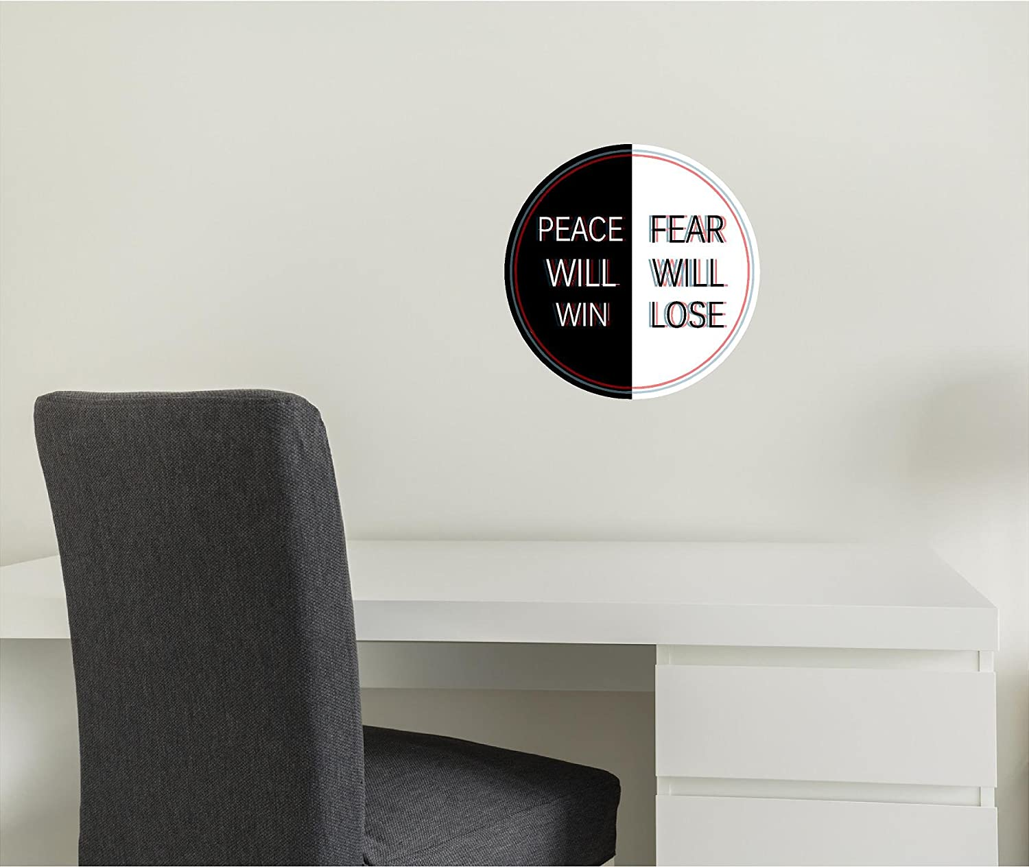 """12"""" Twenty One Pilots Quote #2 Poster Decal Sticker Graphic Mural Removable Reusable TOP Song Lyrics Photo for Home, Office & Bedroom Decor"""