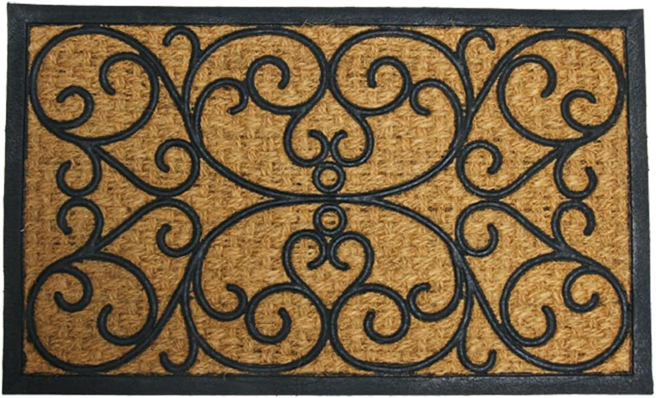Amazon Com Rubber Cal Cairo Outdoor Rubber Coco Coir Doormat 18 X 30 Inch Home Kitchen