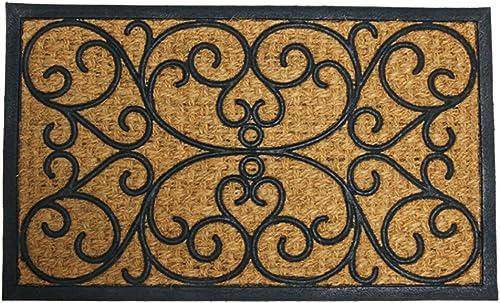 Rubber-Cal Cairo Outdoor Rubber Coco Coir Doormat, 18 x 30-Inch