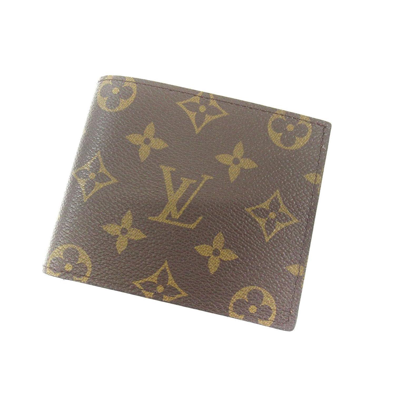 [ルイヴィトン]ポルトフォイユマルコ 二つ折り財布(小銭入れあり) モノグラムキャンバス レディース (中古) B07DLKK3TD