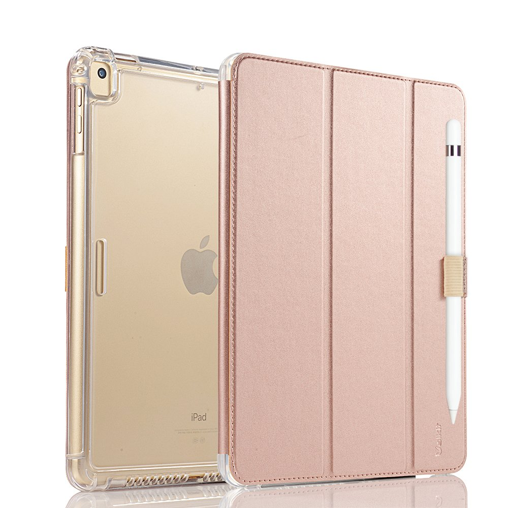 valkit for iPad Pro 9.7 Cover, iPad Pro 9.7 Case, Smart Stand Protective Heavy Duty Rugged Impact Resistant Armor Cover for Apple iPad Pro 9.7 with Apple Pencil Holder, Rose Gold