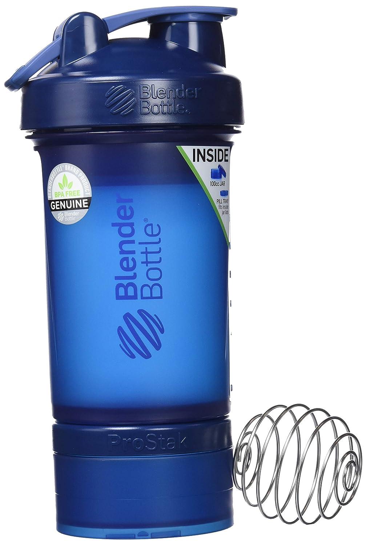 BlenderBottle ProStak - Botella de agua y mezcladora (1 x 650ml, 2 recipientes 150ml & 100ml, 1 recipiente para las grageas) Fashion Pink: Amazon.es: Salud ...