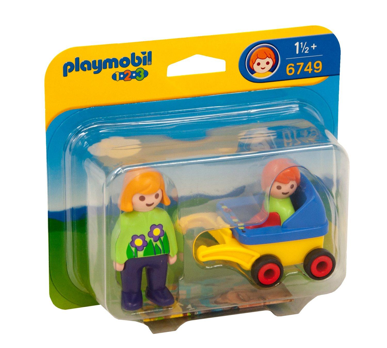Playmobil 626178 - 1.2.3 Mamá Cochecito De Bebé: Amazon.es: Juguetes y juegos