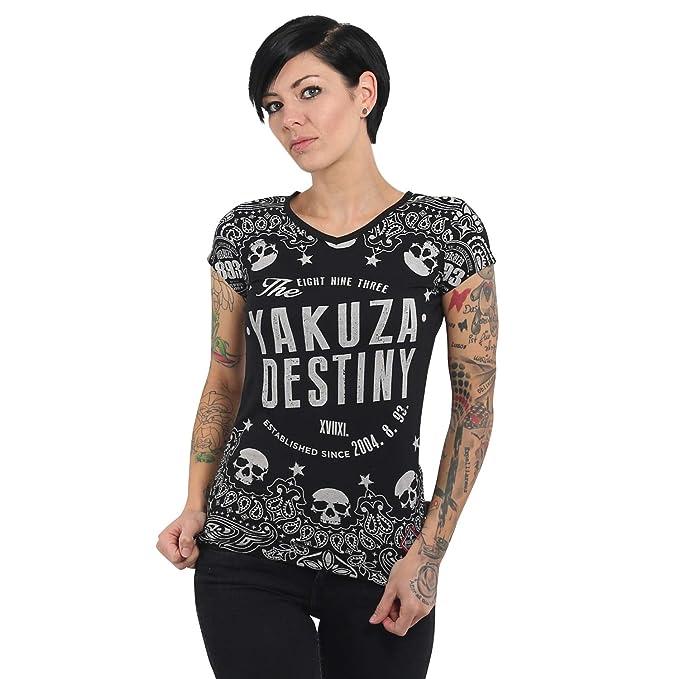 Neues Yakuza Damen 4 Tattoo Convention Dresden 2019 V-Neck T-Shirt Schwarz