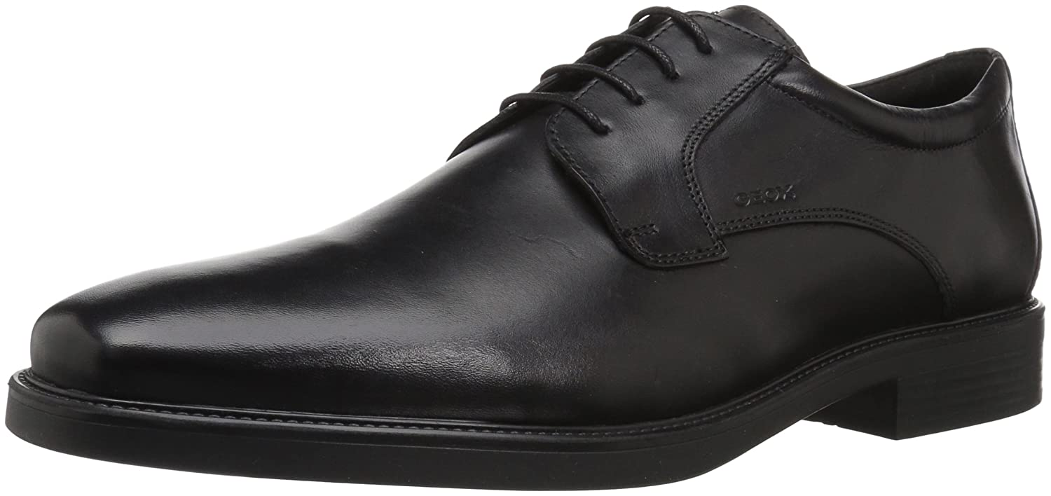 GEOX Real Leather Lace Up Shoes Negro