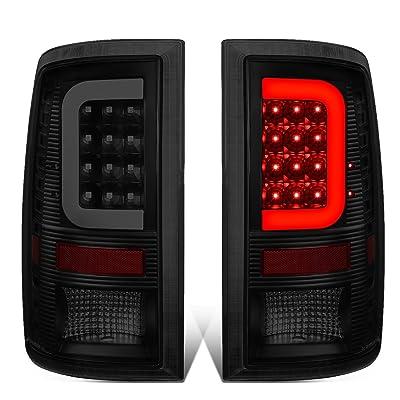 DNA Motoring Black Housing/Smoke Lens TL-DRAM09-LED-3D-BK-SM-G2 Pair 3D LED Tail Lights [09-17 Dodge Ram]: Automotive