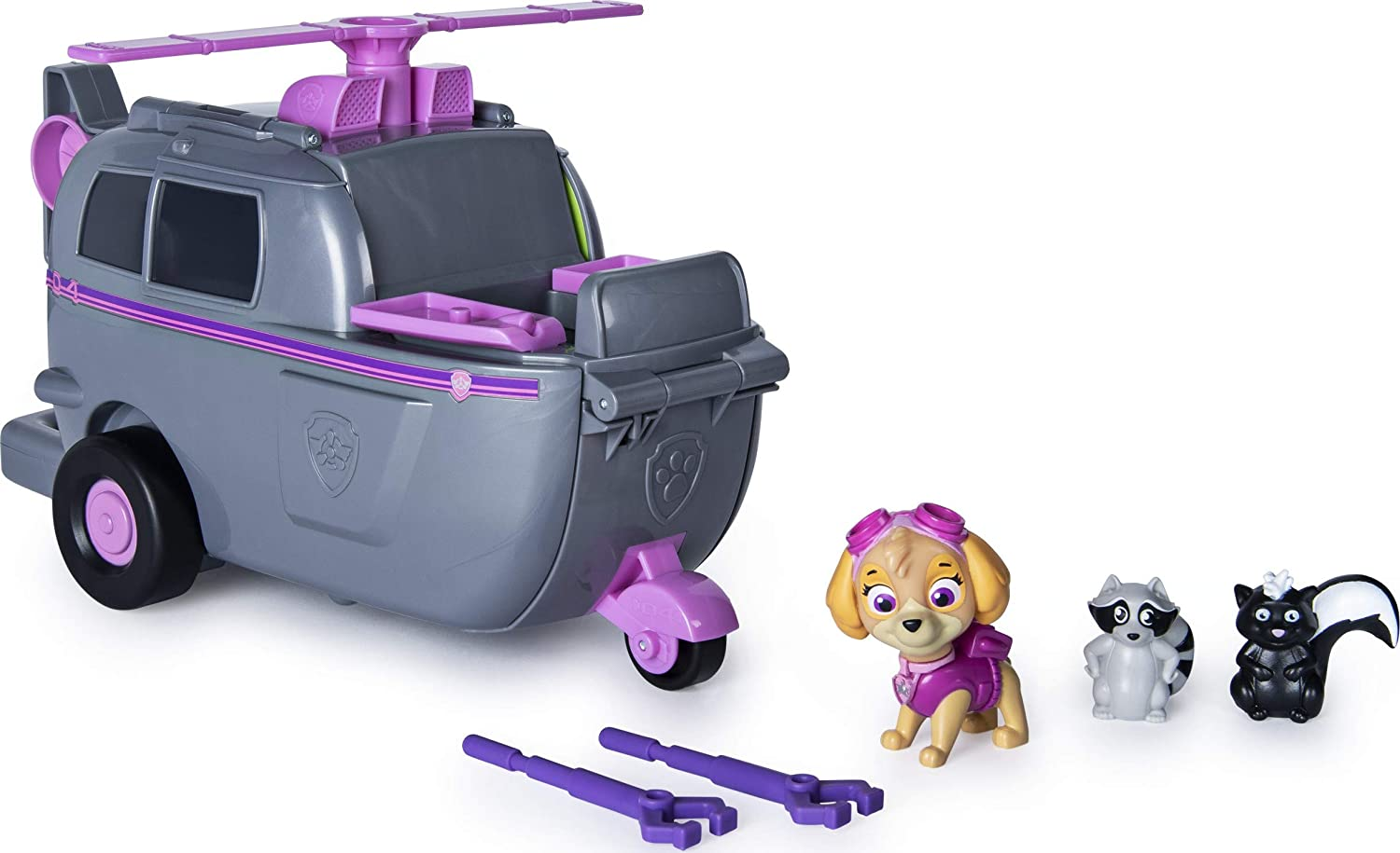 PAW Patrol, Skye's Ride N Rescue, 2-in-1 Transforming Playset and Helicopter, for Kids Aged 3 and Up: Toys & Games