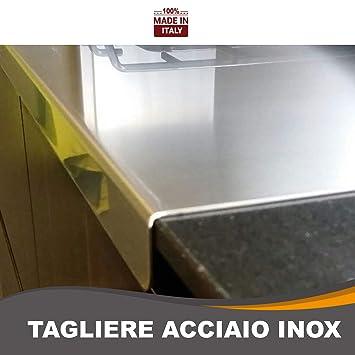 ZeroInox Tagliere in Acciaio Inox Varie Misure per Proteggere Il Piano  della Cucina profondità 50 cm (L 70 XP 50 X 3cm)