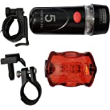 Kit Farol Lanterna LED Bicicleta Bike Segurança Power Beam LS-X66
