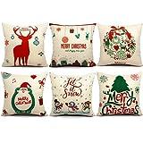 Amazon Price History for:6 Packs Christmas Pillows Covers 18 X 18 Christmas Décor Santa Claus Pillow Covers Christmas Decorative Throw Pillow Case Sofa Home Décor