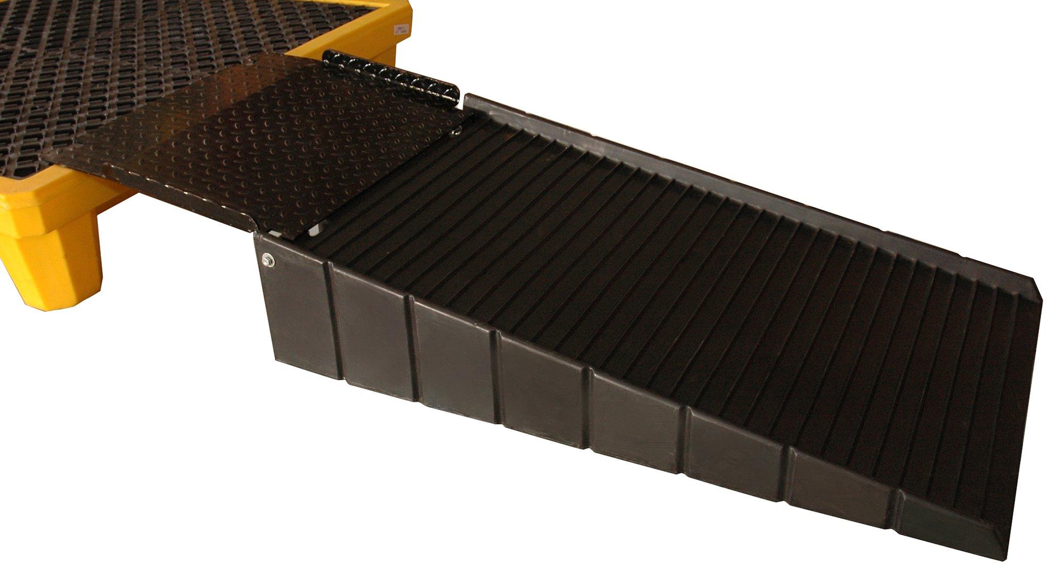 UltraTech 0678 Polyethylene Loading Ramp with 21'' Plate, 700 lbs Capacity, 5 Year Warranty, Black