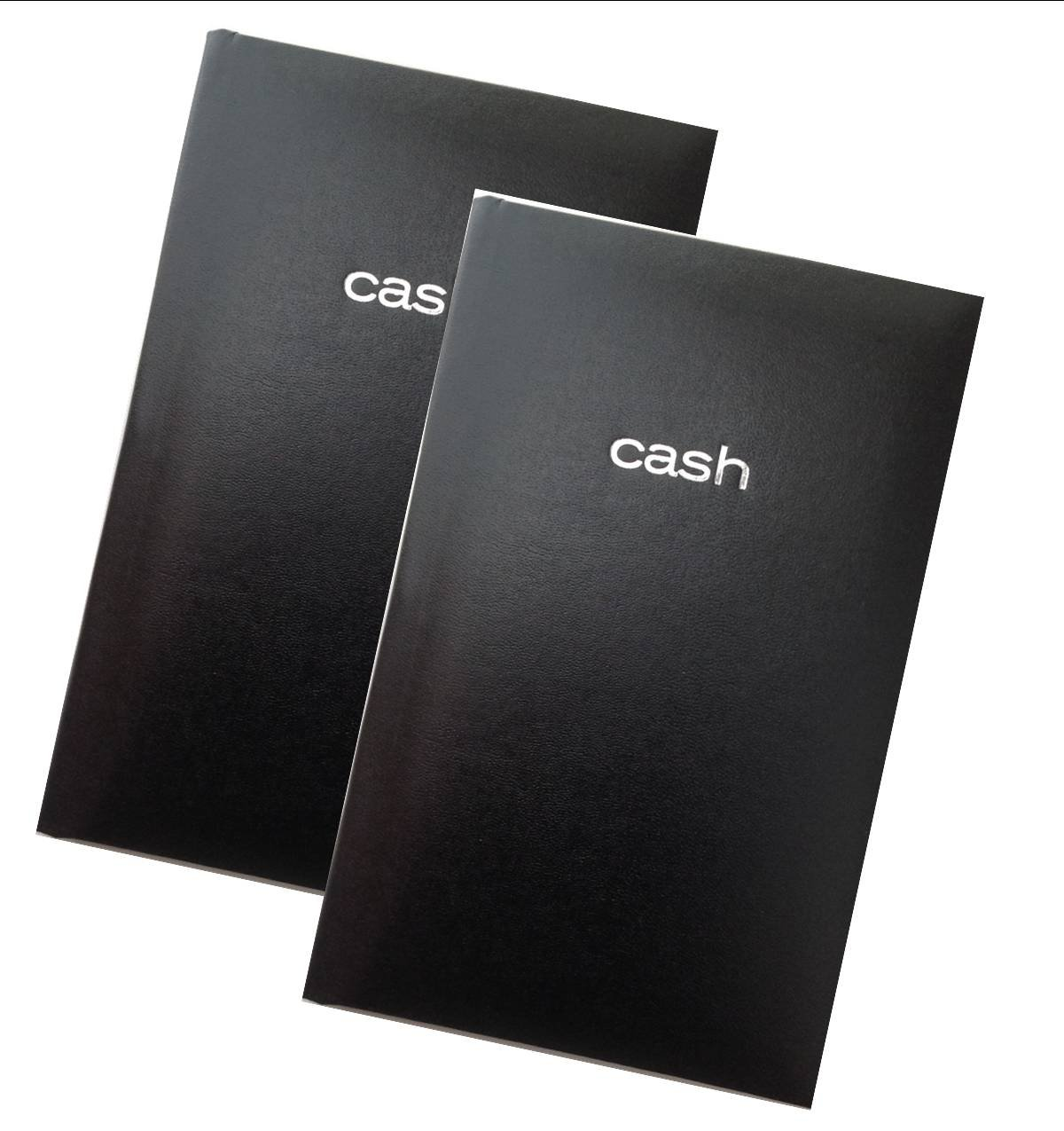 Mead Cash Book, 7-15/16 x 5-1/8 inches, 144 pages Hardbound Black Cover (64582) - Set of 2 Books