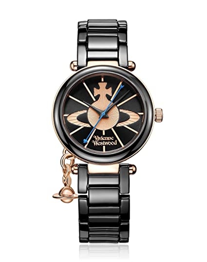 516cacec5ca Vivienne Westwood Kensington Women's Quartz Watch with Black Dial Analogue  Display and Black Ceramic Bracelet VV067RSBK