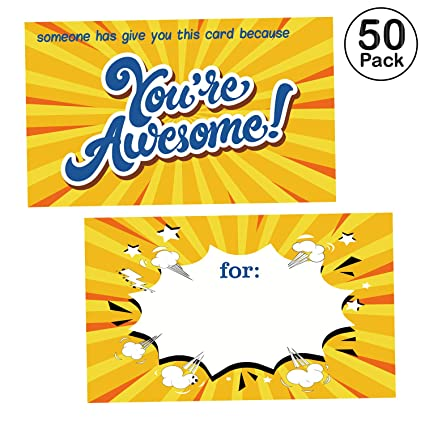 Amazon com : 50 You are Awesome Cards -Thank You Appreciation Gifts