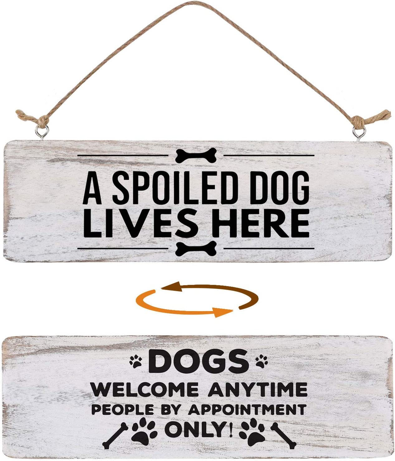 Home Decor Signs Double Sided, Farmhouse Dog Signs for Home Decor Wall, Home Sign Wall Decor for Livingroom Inspirational Rustic Wooden Wall Art Decor Home Decor