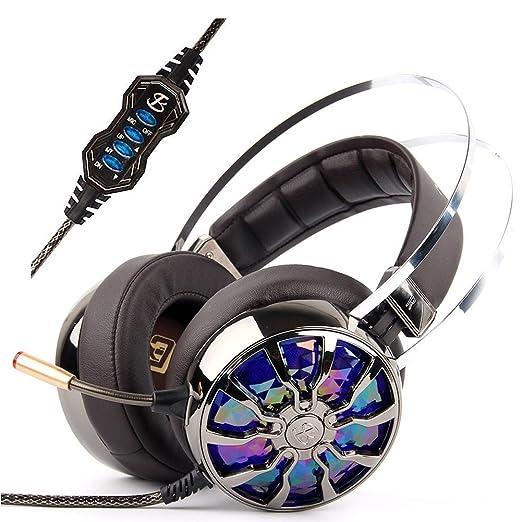 3 opinioni per KINDEN Cuffie per il Gaming con Microfono, Cuffie PC USB 3.0 Virtual Sound 3D