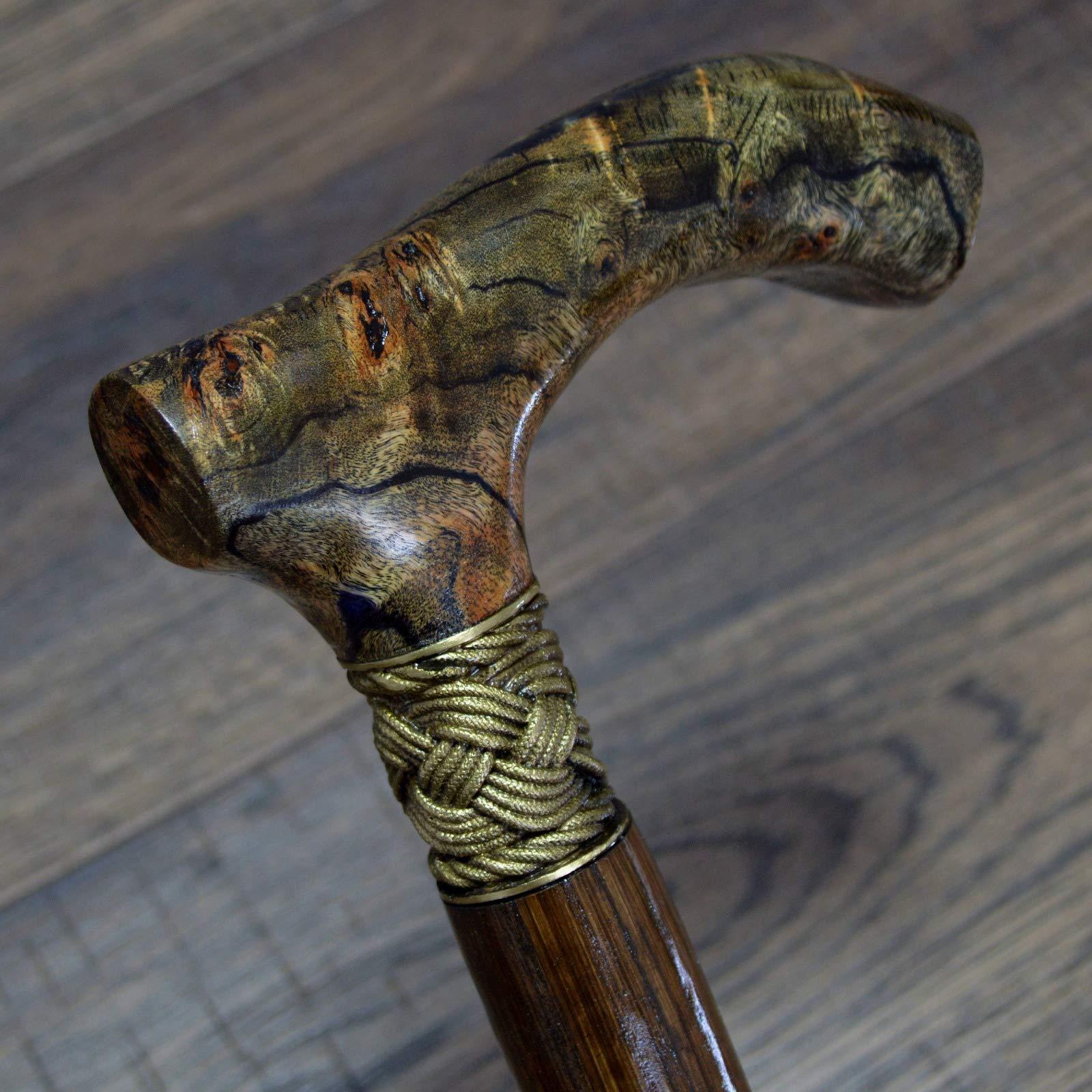 oleksandr.victory Canes Walking Sticks Wood Reeds Bronze Wooden stabilized BURL Handmade Cane Stick Men's Accessories Stabil4