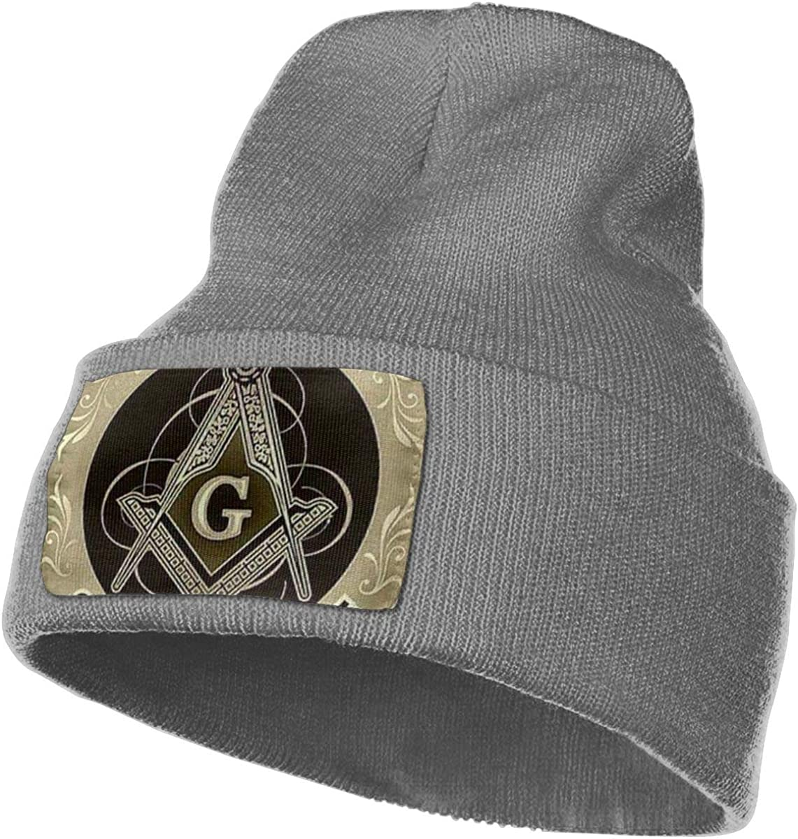JimHappy Freemason So Mote It Be Hat for Men and Women Winter Warm Hats Knit Slouchy Thick Skull Cap