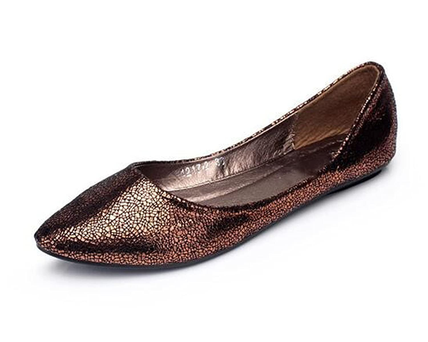 Aancy New New Europe and America Fan Flat Fashion Flats Pointy Toe Shoes Large Size Women 4 Colors