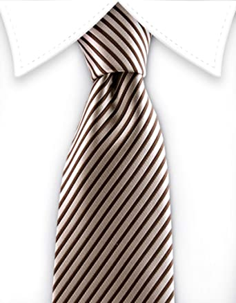 Gentleman Joe Orange /& Black Pinstriped Necktie Multicolored