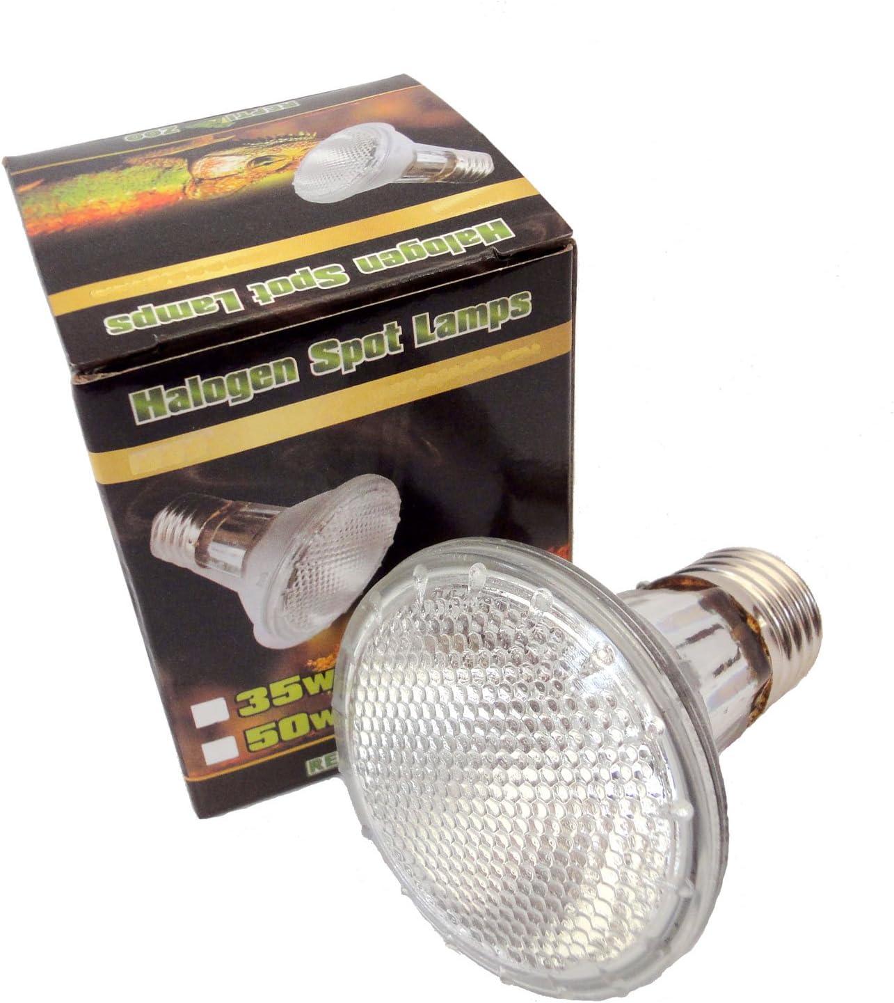 Reptile Vivarium Halogen Spot Lamp 50W E27 Screw Type