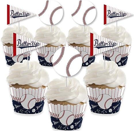 24-Pack Baseball Cupcake Picks
