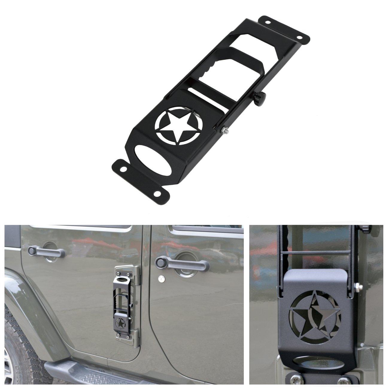 Nero RONGZHI Metallo Cerniera Steps Pieghevole poggiapiedi Pedale peg per Jeep Wrangler JK 2007/ /2017/
