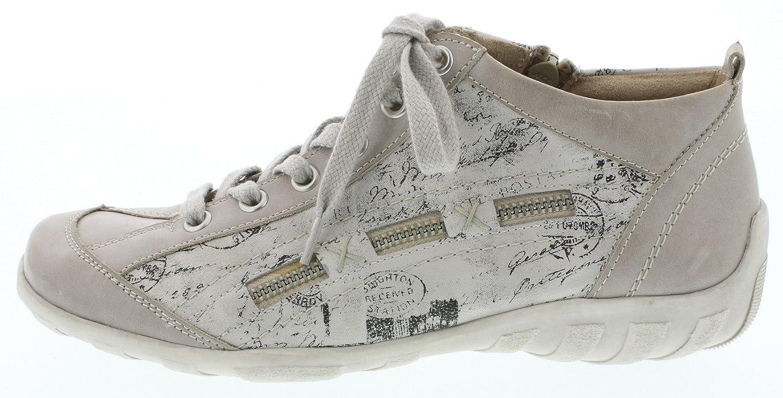Remonte Damenschuhe R3483 Damen Sneaker, Schnürer, Schnürhalbschuhe mit Funktionsreißverschluß / Ice/Ice/Schwarz / Funktionsreißverschluß 80 d7b0d8