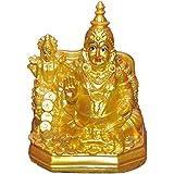 Laxmi Kuber Dhan Varsha Statue Murti Showpiece Golden Idol