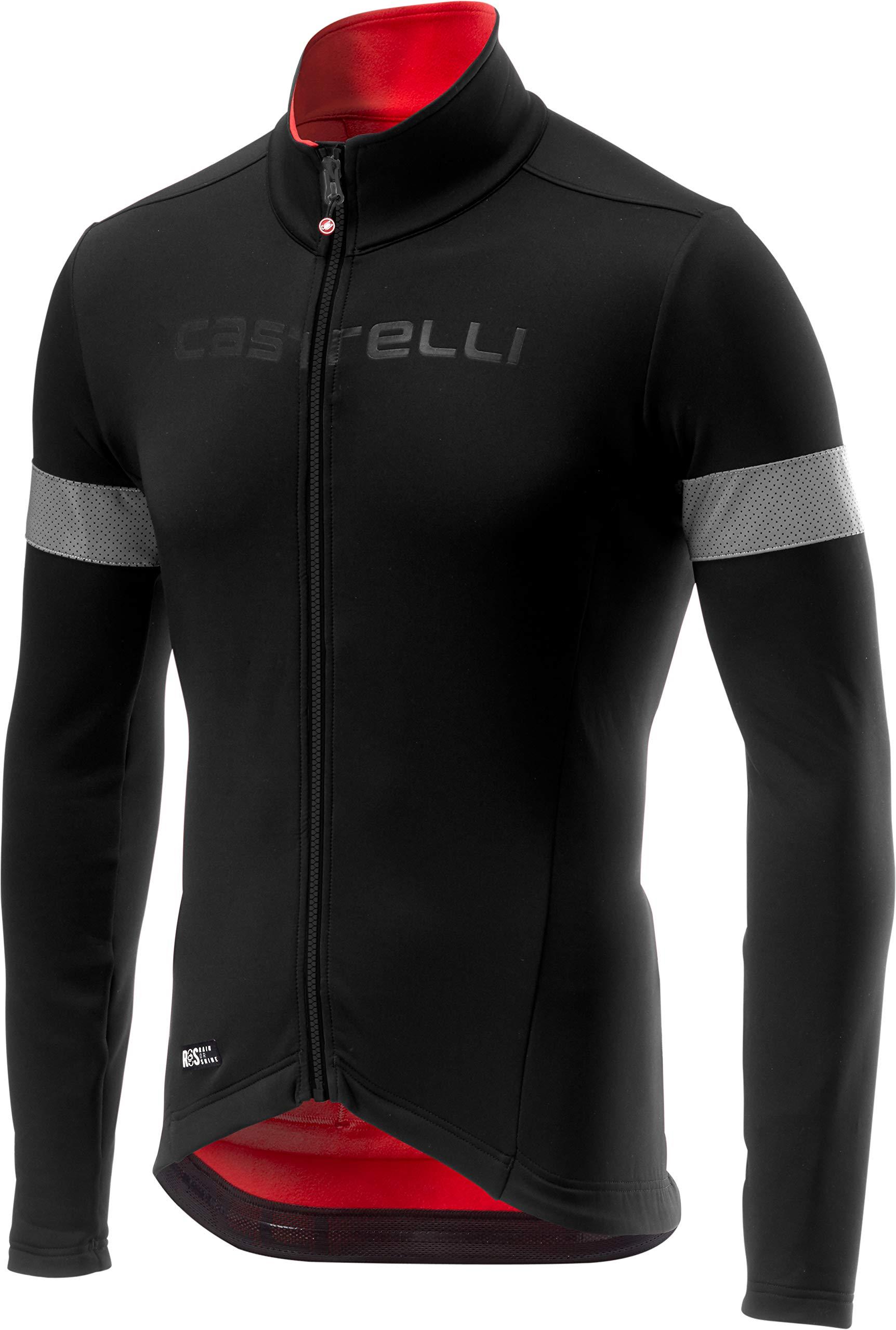 Castelli Nelmezzo ROS Jersey - Men's Black/Red, S